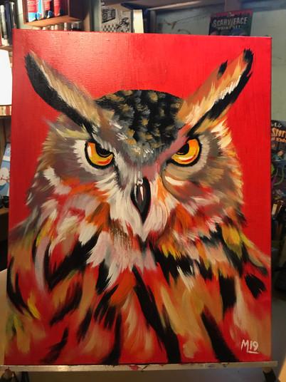 """Fire Owl"" ©Matthew Laznicka"