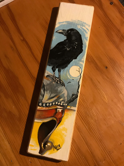 Crow on stool! (Sold)