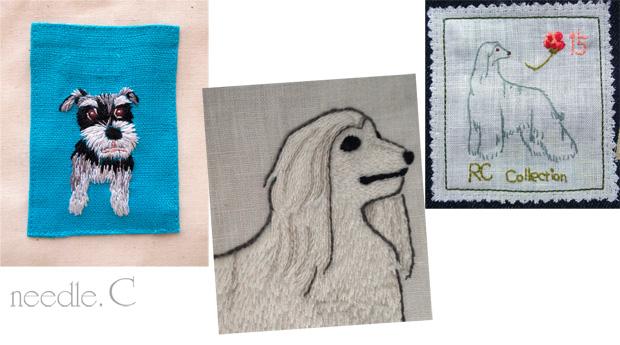 ワンポイント刺繍 犬