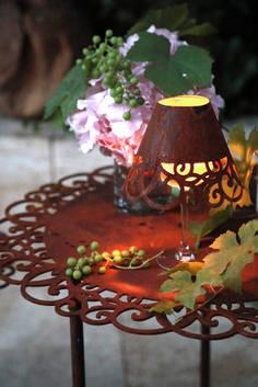 Lucca Tisch und Weinglasschirm