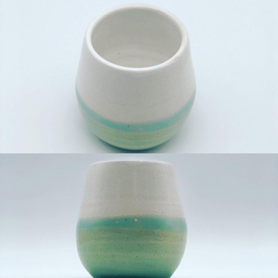 Turquoise and White Tumbler