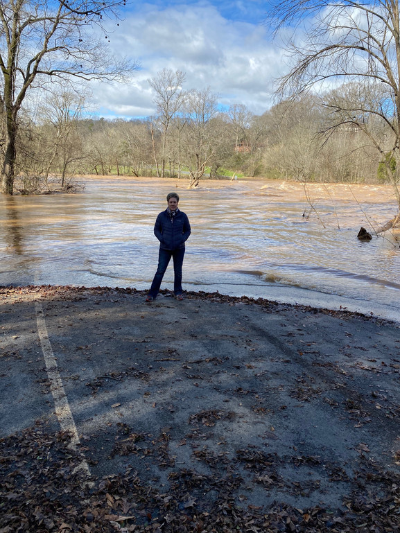 Flooding is a constant problem at the Low Water Bridge in Anson County. The bridge is located a few feet behind me and is totally submerged after heavy rains in January, 2020.