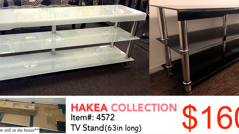 "63"" TV Stand (Black or White)"
