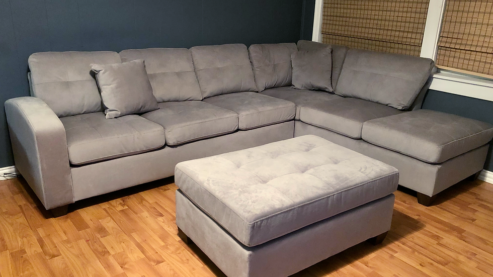 8367 Emilio Taupe reversible sectional