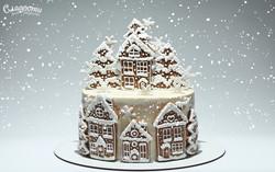 Новогодний торт с елочками Киев