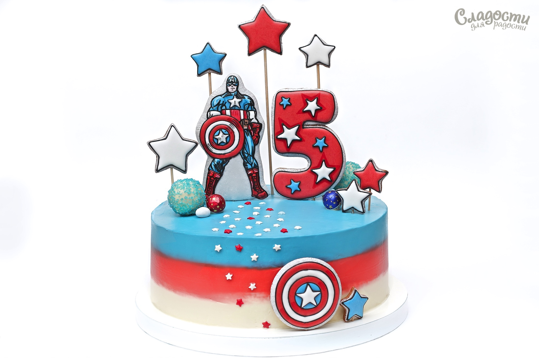 """Торт """"Капитан Америка"""""""