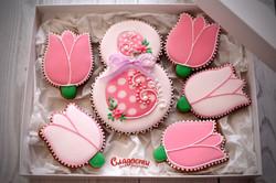 """Подарочный набор пряников """"Розовый"""""""