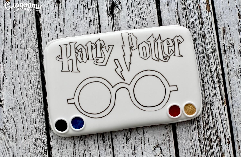 "Пряник-раскраска ""Гарри Поттер"""