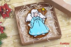 """Имбирный пряник """"Ангел на Рождество"""""""