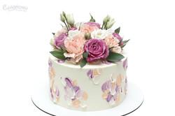 Торт с живыми цветами Киев