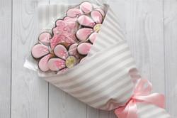 """Пряничный букет """"Розовые фиалки"""""""