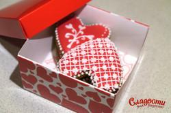 Набор сердец в коробке