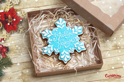 """Имбирный пряник """"Новогодняя снежинка"""