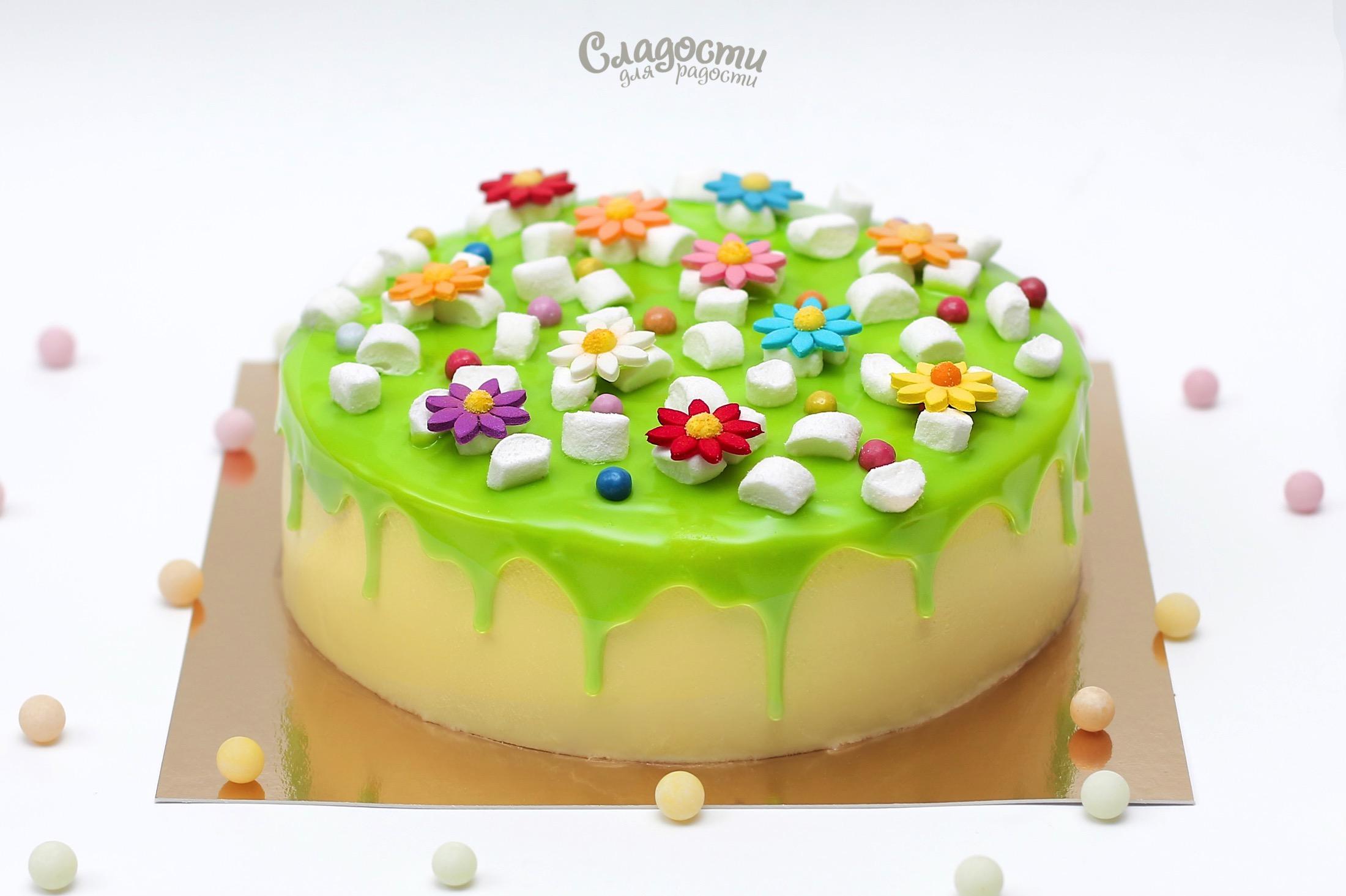 """Торт """"Летняя полянка"""""""