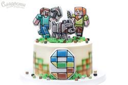 """Торт """"Minecraft"""" Киев."""