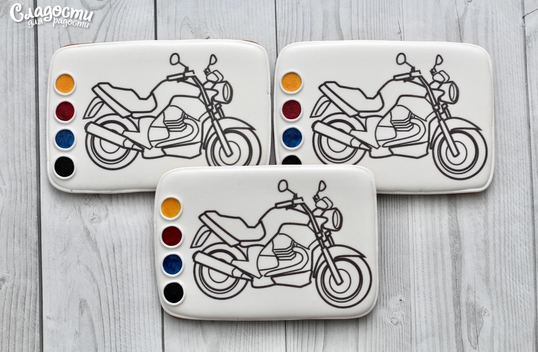 "Пряничная раскраска ""Мотоцикл"""