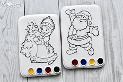 """Пряник-раскраска """"Дед Мороз и Снегурочка"""""""