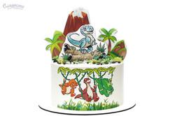Торт с динозаврами Киев