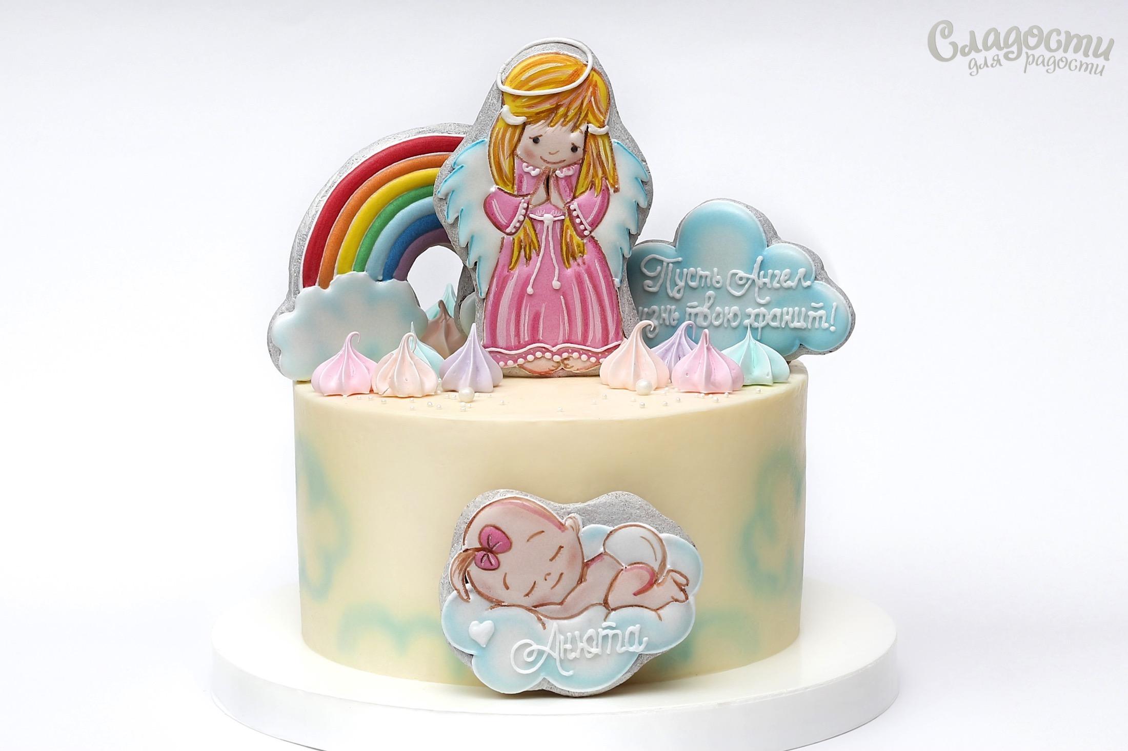 """Торт """"Крещение Анюты"""""""