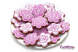 """Имбирное печенье """"Цветы"""""""