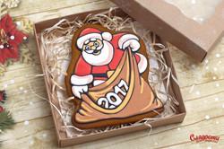 """Имбирный пряник """"Дед Мороз с мешком"""""""