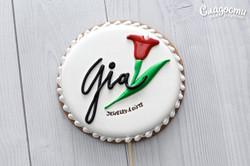 Пряник с логотипом GIA
