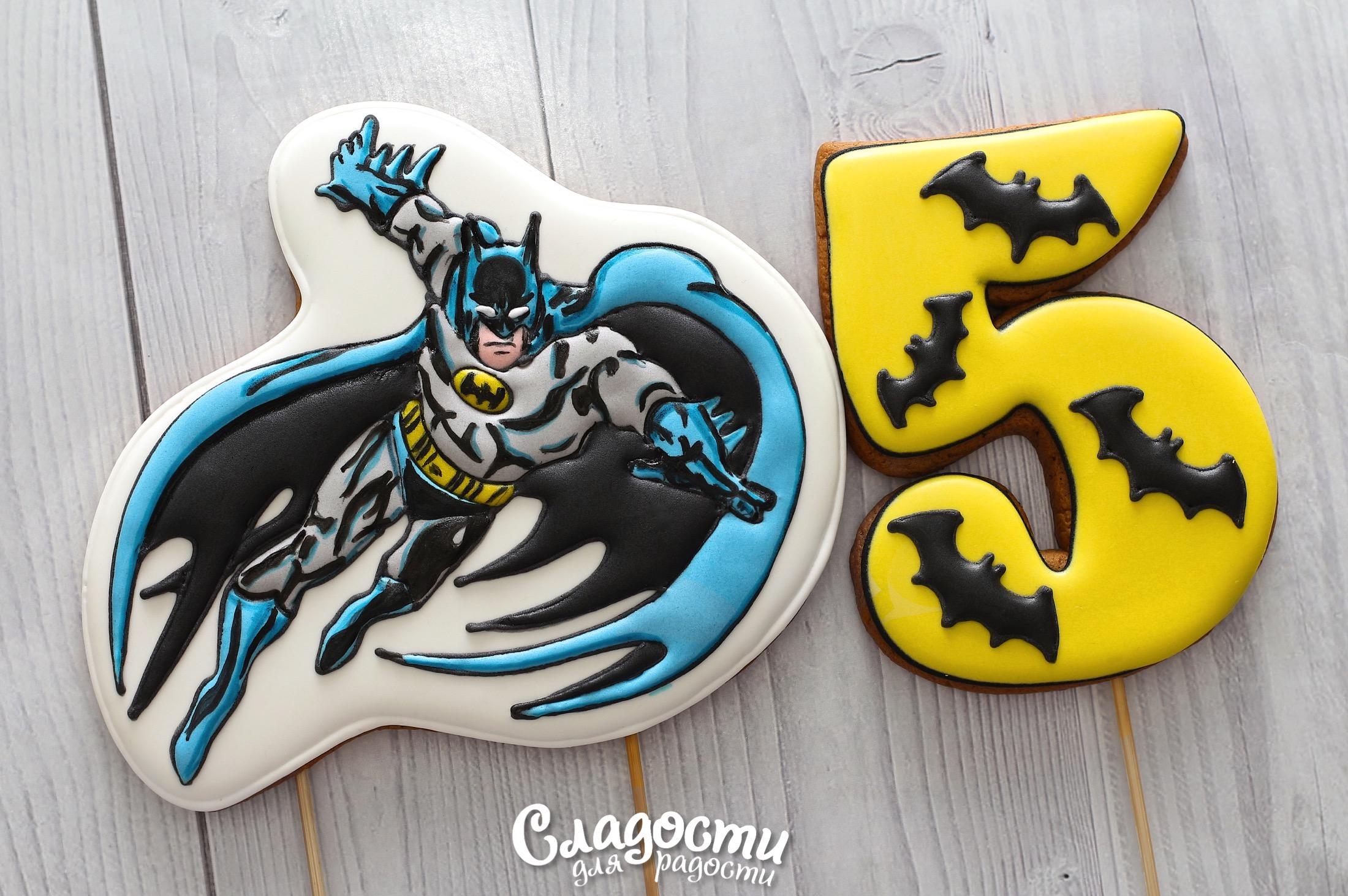 """Пряник в торт """"Бетмен"""""""