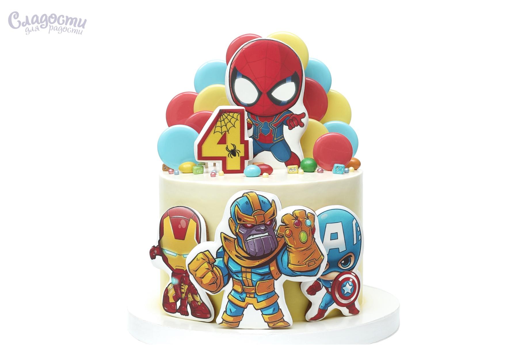 Торт с супергероями Киев