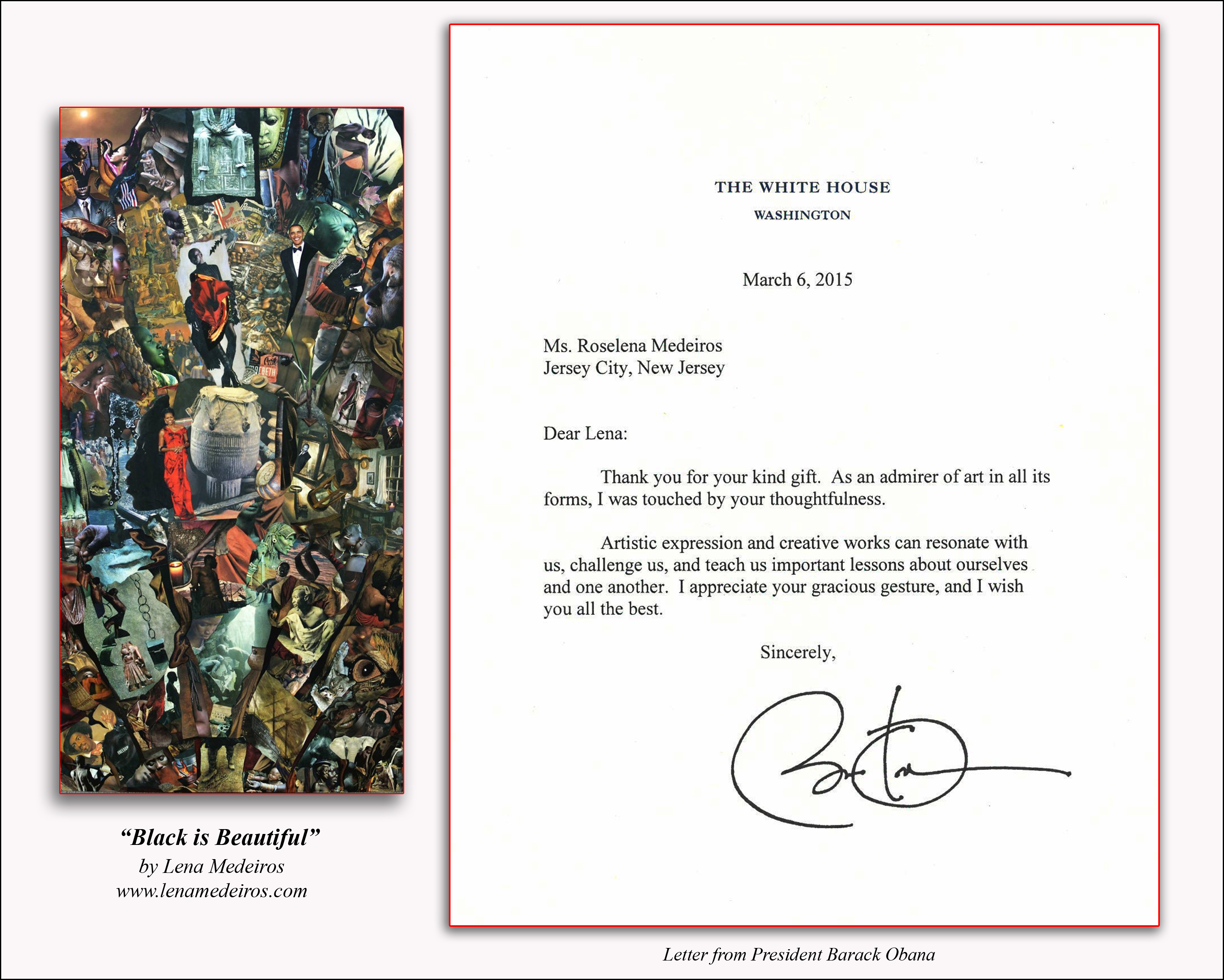 Obama Letter to Lena Medeiros version 2 framed.jpg