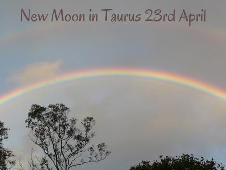 New moon in Taurus April 23rd 2020
