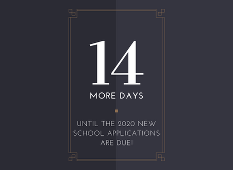 14 More Days Until Applications are Due!