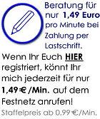 Kartenlegen per Festnetz ab 0,99 Euro/Min. - Zahlung per Lastschrift