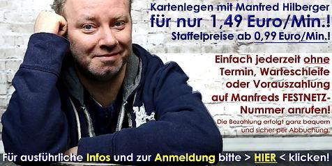 Kartenleger Manfred | KartenlegerManfred.de | Günstiges ehrliches Kartenlegen ab 99 Cent pro Minute