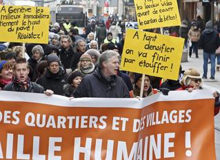 A Genève, «une colère sourde» contre plusieurs projets immobiliers réunit 200 personnes
