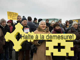 Manif contre la densification du canton