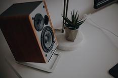 Speaker on desk