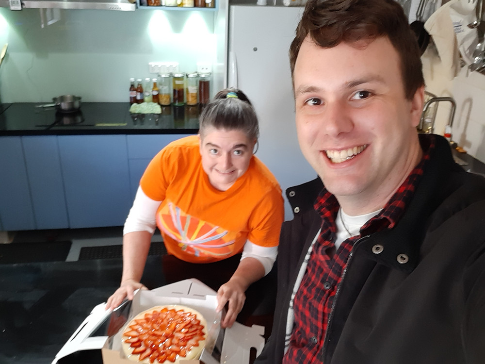 Chris with Jaci Hicken from Jacican Food Studio in Mirboo North.