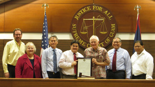 Mr. Blair Honored by the Judicial Council of Guam