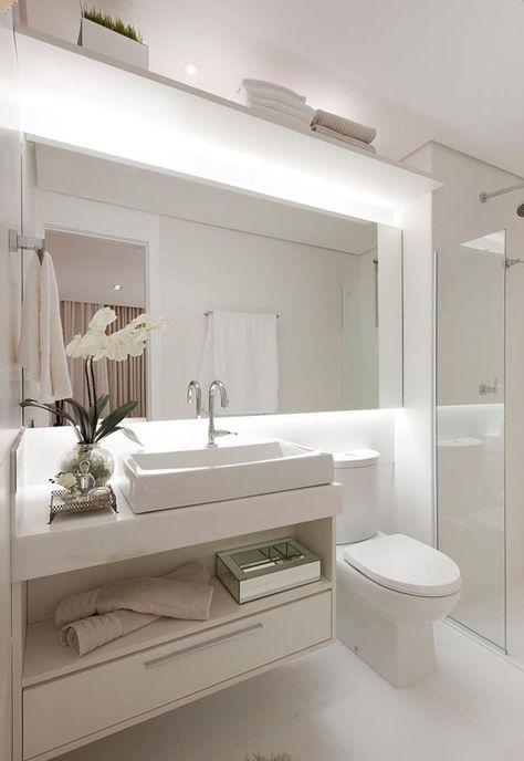 Espelho com estrutura p/ iluminação
