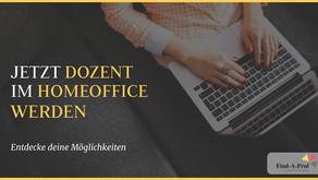 Home Office Dozent (m/w/d) deutschlandweit