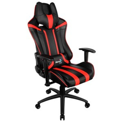 AEROCOOL AC120 SERIES GAMING CHAIR - BLACK/RED