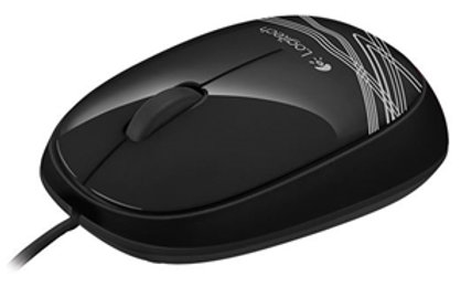 Logitech M105 USB Mouse - Black