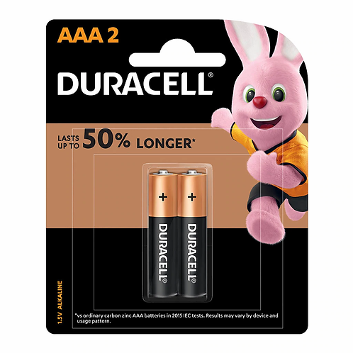 Duracell Coppertop Alkaline AAA Battery Pack of 2