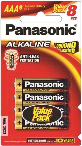 Panasonic AAA Alkaline Battery 8 Pack
