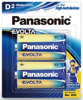 Panasonic Evolta D Alkaline Battery 2 Pack