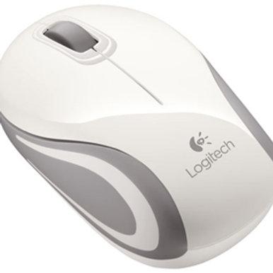 Logitech M187 USB Wireless Mini Mouse - White