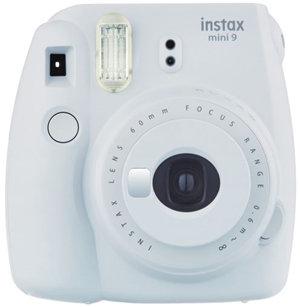 Fujifilm Instax Mini 9 Camera Smokey White w/10 Pack Film