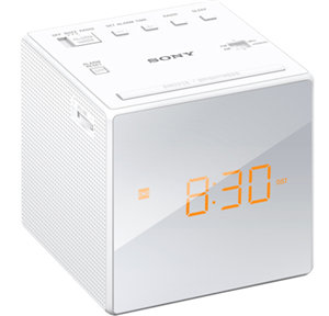 Sony ICFC1B Single Alarm White Clock Radio