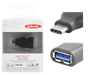 Ednet USB 3.1 Type-C (M) to USB Type A (F) Adapter
