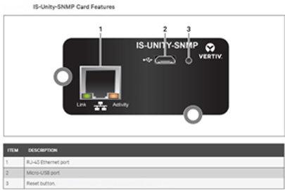 Liebert Intellislot IS-UNITY-SNMP Webcard for GXT3/GXT4